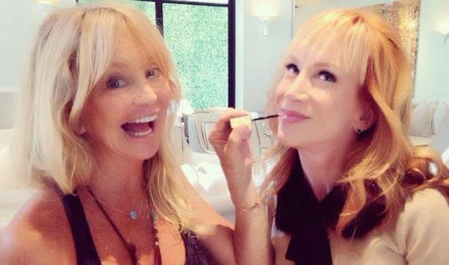 Kathy Griffin and Goldie Hawn Lay the Gloss On Thick