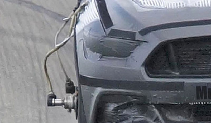 Here's The Basically Uncovered Front Of The 2015 Mustang