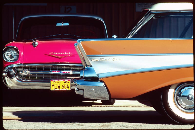 Classic Chromed '57 Chevys in California