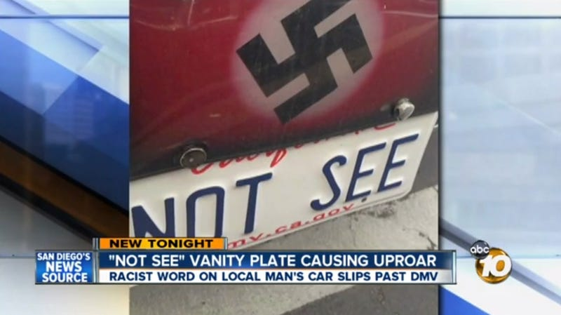 Bus Driver With 'Not See' License Plate Turns Out to Be a Nazi