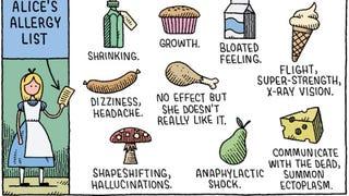 Alice's allergy list...