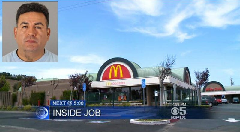 Armed McDonald's Manager Holds Up His Own Restaurant