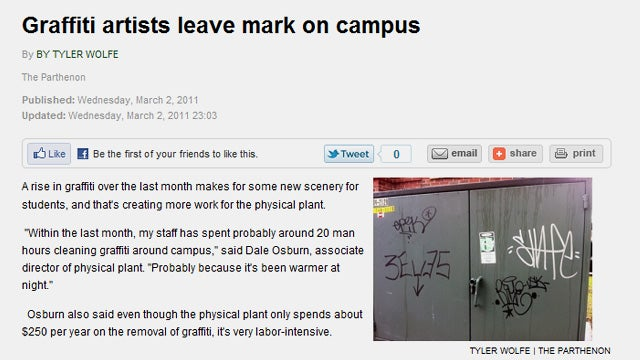 Graffiti-Writing Reporter Has Great Story to Tell While Never Working in Journalism Again