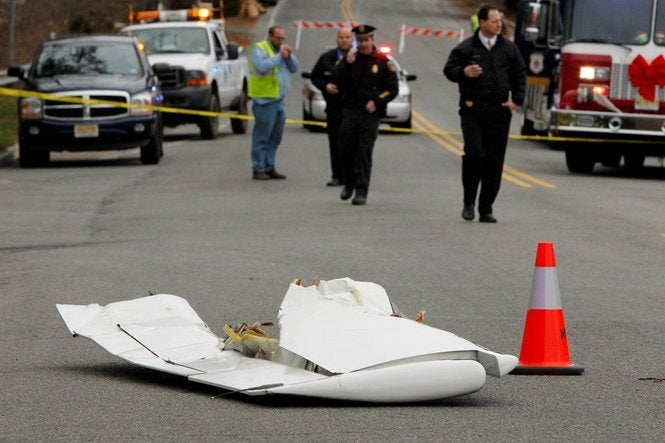 Plane Crashes On Busy New Jersey Highway (Video)