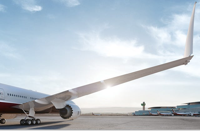 The Boeing 777X is so big that it requires folding wingtips...