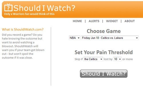 Should I Watch Tells You if a Sports Game Is Worth Watching