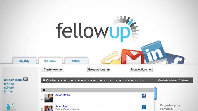 FellowUp Is a Personal Assistant Webapp That Manages Your Social Network Connections