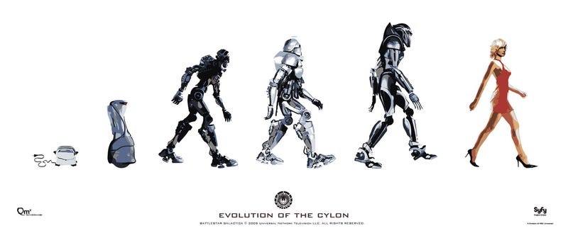 Trace Cylon Evolution, From Toaster To Centurion To Six