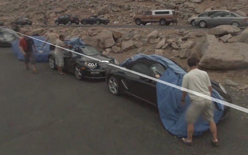 Google Streetview Catches Porsche Engineers With Their Pants Down