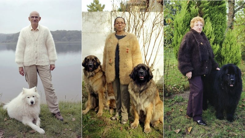 See My Vest: Portraits of Pet Owners in Dog Hair Sweaters