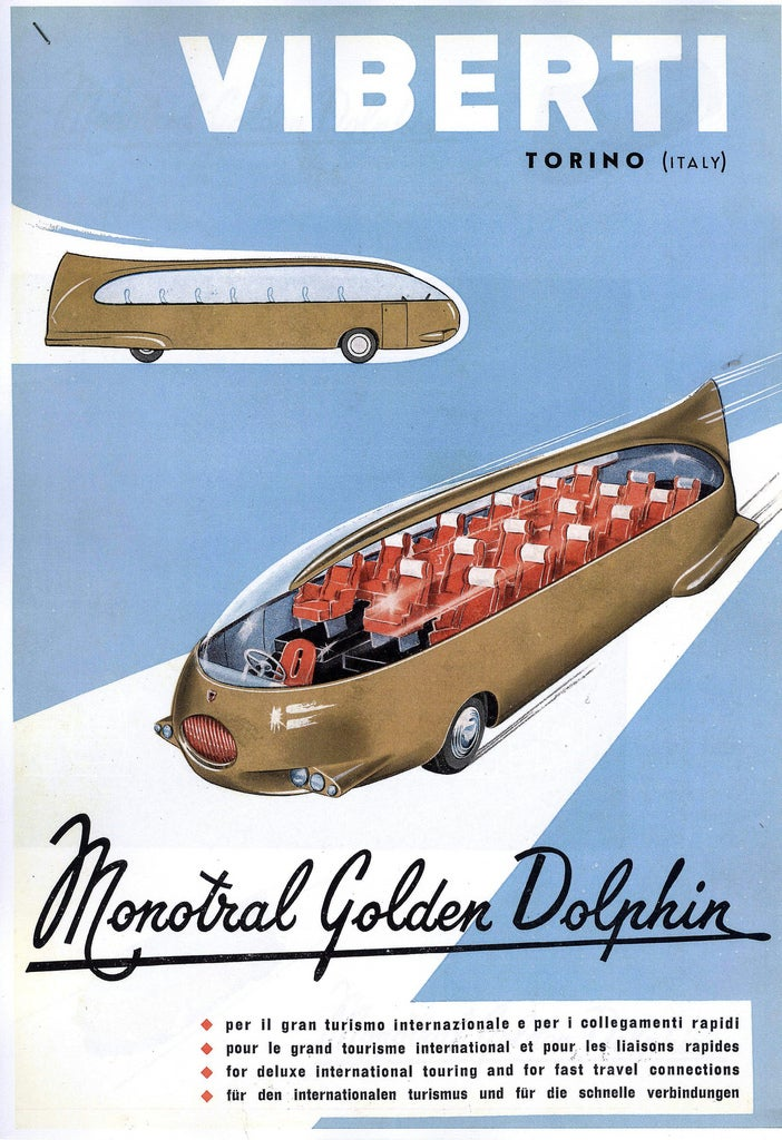 Sleek and Sexy Bus Concepts from the Future that Never Was