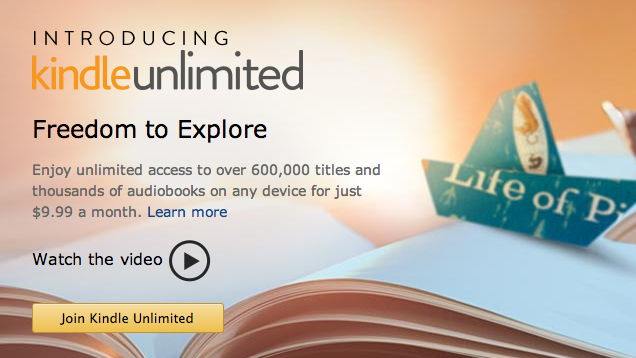 Kindle Unlimited is a Subscription Service for Books and Audiobooks