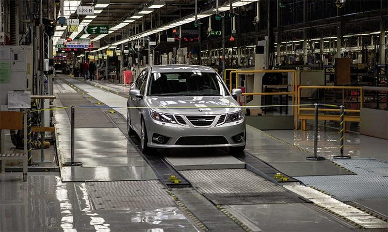 NEVS Saab 9-3 begins production today