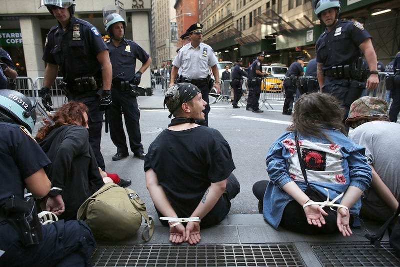 Just Like Old Times: Dozens Arrested During Occupy Wall Street Anniversary Protests