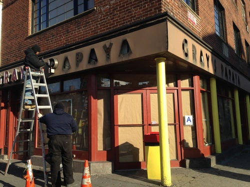 Gray's Papaya in the West Village Closed