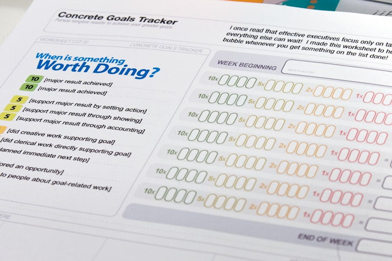 Use the Concrete Goals Tracker to Monitor Tangible Work