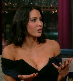 Olivia Munn's Breasts Stop By the Late Show