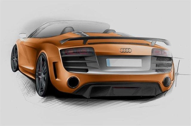 This is Audi's lighter R8 GT Spyder