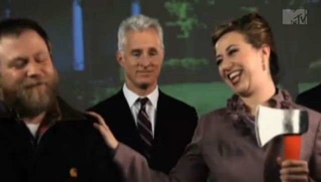 New Music Video For The National Stars John Slattery and Kristen Schaal