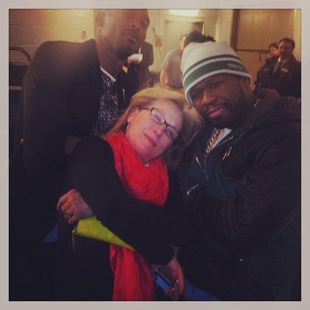"""50 Cent and Meryl Streep Get """"a Little Gangsta"""""""