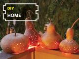 DIY Backyard Gourd Lanterns
