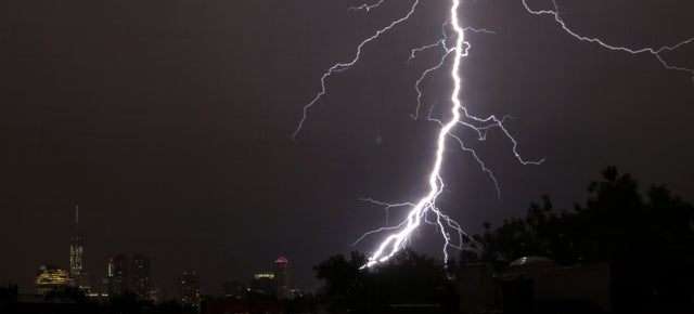 Lightning can be heard halfway around the world via radio