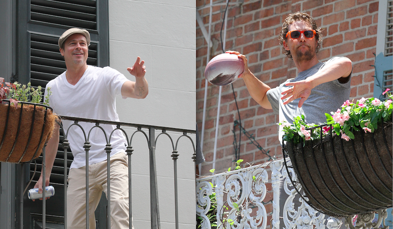 Separate Balconies Didn't Keep Brad Pitt and Matthew McConaughey Apart