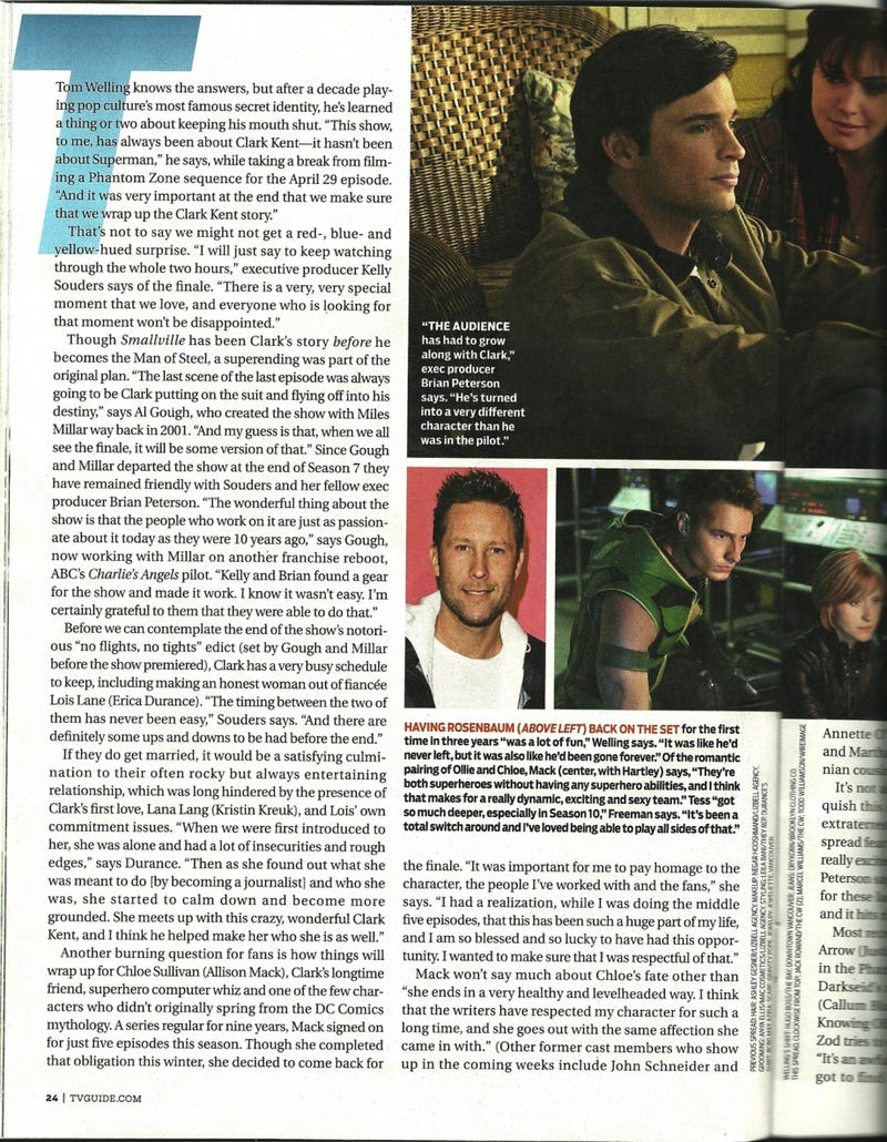 Smallville TV Guide Scans