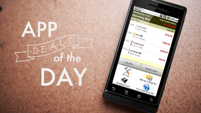 Daily App Deals: Get Bills Reminder for Android for Free in Today's App Deals