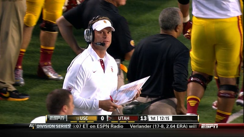 If Only For A Moment, Lane Kiffin Was Panicked