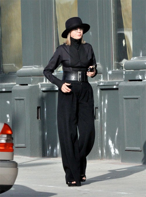 Diane Keaton Is Dressed For ______