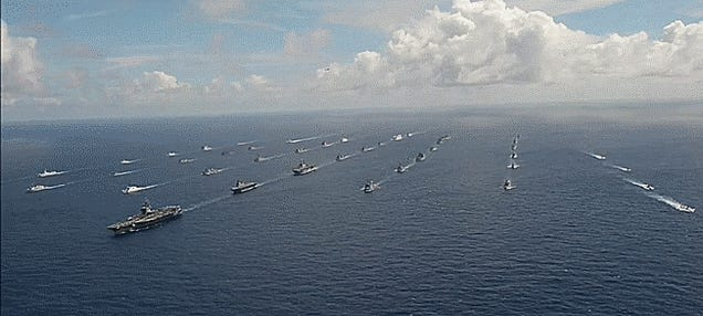 Behold: The Mother Of All Flotillas At The Mother Of All Naval War Games