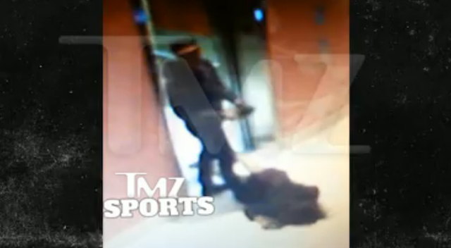Here's Ray Rice Dragging His Unconscious Fiancée Out Of An Elevator