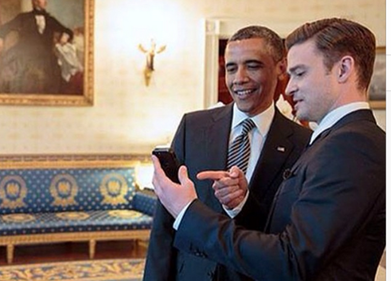 This Pic of Justin Timberlake with President Obama Needs Your Caption