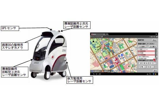 El mini-taxi japonés que se conduce solo