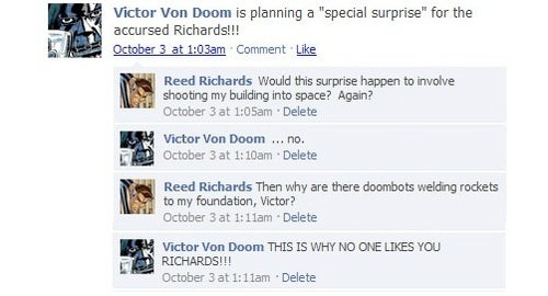 Facebook Updates Are Just as Awkward for Superheroes