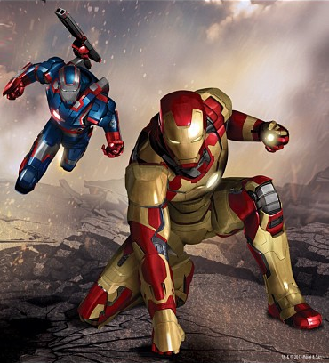 Brand new Iron Man 3 concept art includes star-spangled armor