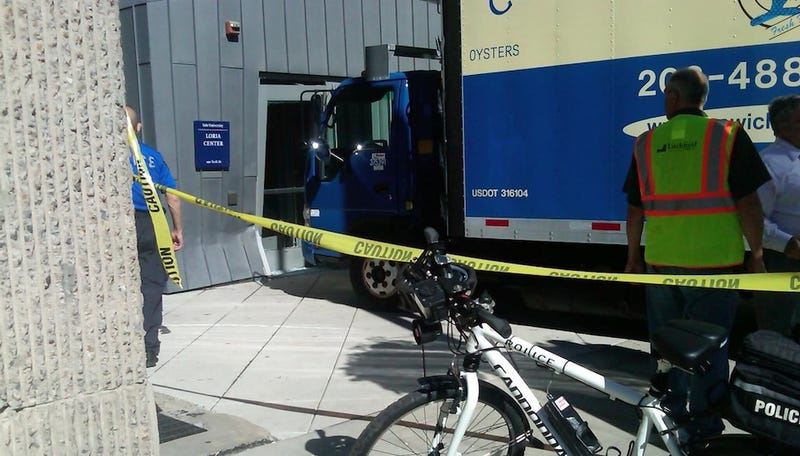 Yup, A Giant Truck Full Of Fish Crashed Into A Building Named After Jeffrey Loria
