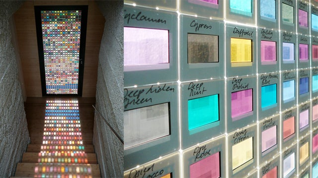 Stained Glass Windows Go Modern With Pantone Color Swatches
