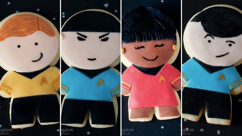Celebrate Star Trek's 45th anniversary by baking your very own character cookies
