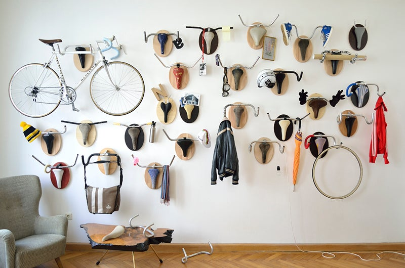 Dress Up Your Den With Hunting Trophies Made From Bike Parts