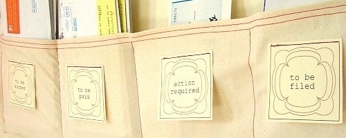 Stitch Together a Simple Organizer to Conquer Your Mail