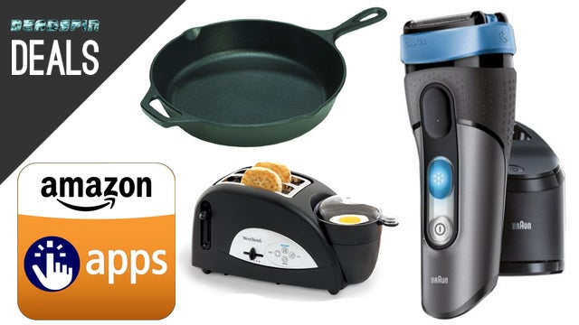 "Deals: Face-Cooling Shaver, 15"" Cast Iron, Breakfast Sandwich Maker"