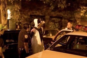 Cops, Panda Hipsters Battle in Williamsburg Streets