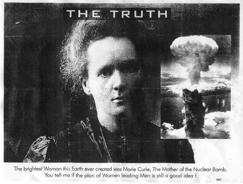 "Bizarre Campaign Targets ""Overeducated Women,"" Marie Curie"