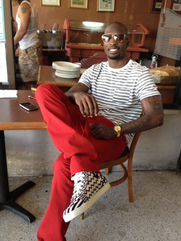 Sunshine Patriot: Chad Ochocinco Sure Looks Happy Just Five Days After Losing The Super Bowl