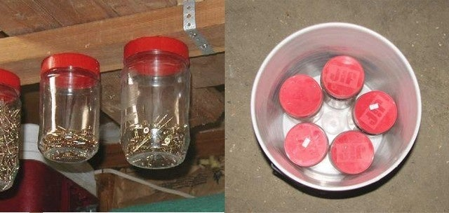 Recycle Jars and a 5 Gallon Bucket into a Workshop Organizer
