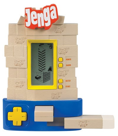 Jenga Electronic Game Features Real Blocks for Real Frustration