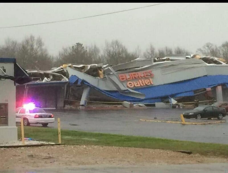 Shopping Center Destroyed in Alabama after Possible Tornado