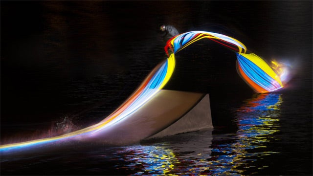 Night Wakeboarding with Light Boards Paints Gorgeously Mesmerizing Pictures